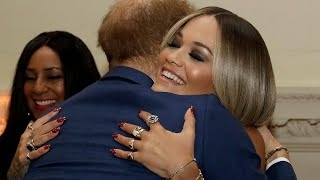 Prince Harry and Rita Ora Share a Hug After Reuniting at Sentable Charity Concert