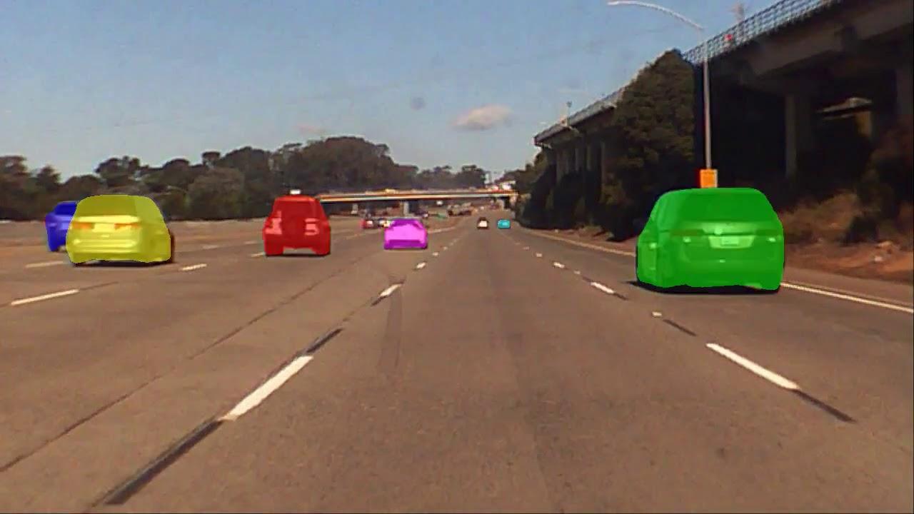 Computer Vision Mask R-CNN Semantic Segmentation Highway 280