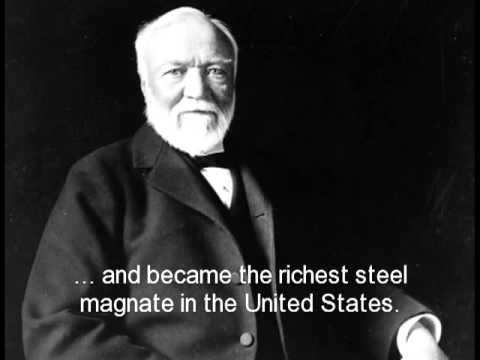 Ad featuring Andrew Carnegie