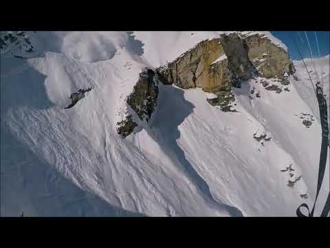 Massive Avalanche Speedriding with Maxence Cavalade 18 february 2018 in Val d'Isère - 984841