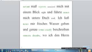 story дословный нем англ рос перевод урок немецкий франк