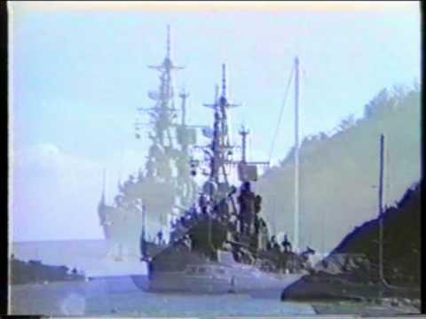 D187 Zerstörer Rommel Einlaufen Charlotte Amalie, St. Thomas, U.S. Virgin Islands 1986