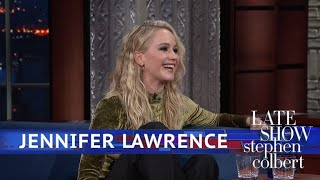 Jennifer Lawrence And Stephen Kick Off Their Shoes YouTube Videos