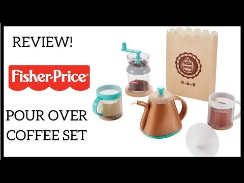 REVIEW!  Fisher Price Pour Over Coffee Set
