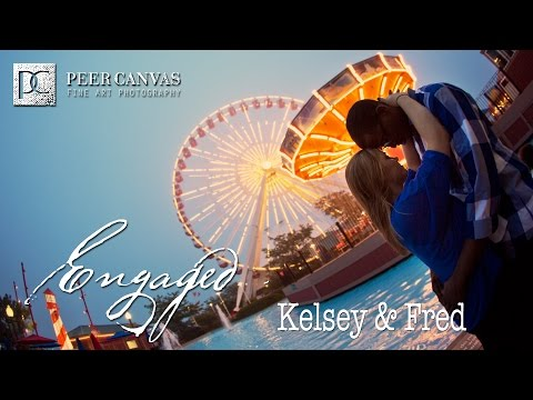 Navy Pier engagement Chicago wedding kelsey fred peer canvas