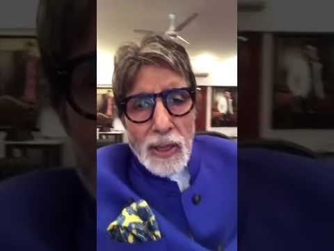 Latest : Amitabh Bachchan first live chat video in Facebook