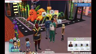 Sims 4 Let's Play: Ep. 13 Halloween Party! w/Special Guest - Devin