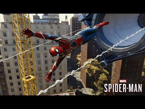 Marvel's Spider-Man (PS4) - Avengers Infinity War (Iron Spider) Suit Web Swinging/Free Roam