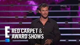 The People's Choice for Favorite Action Movie Actor is Chris Hemsworth | E! People's Choice Awards