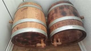 подготовка дубовых бочек для виски и коньяка