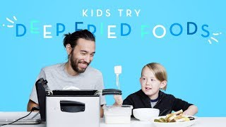 Kids Try Deep Fried Foods | Kids Try | HiHo Kids