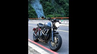 Honda cb400 v3 Cafe racer  M4 exhaust custombike