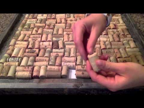How to make a cork board out of wine corks