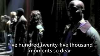 "Rent - ""Seasons of Love"" (2005) - w/ Video & Lyrics"