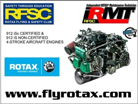 Rotax 912 iS video  Rotax introduces the Rotax 912 iS fuel injected  aircraft engine