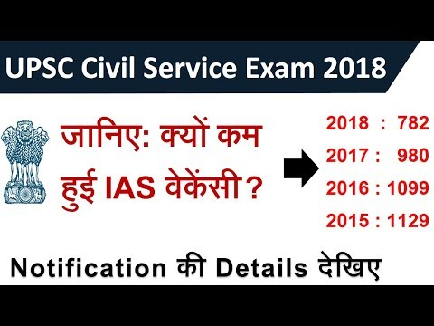 UPSC / IAS Civil Service Exam 2018 Notification || Why the vacancy were reduced?