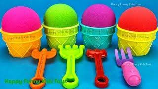 Kinetic Sand Ice Cream Cups Surprise Toys Kinder Joy Yowie Kinder Egg Disney Princess Chupa Chups