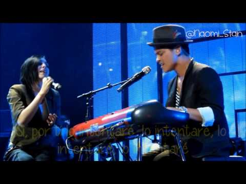 Bruno Mars - It Will Rain ft. Skylar Grey (Live) (Lyrics - Subtitulos en español)