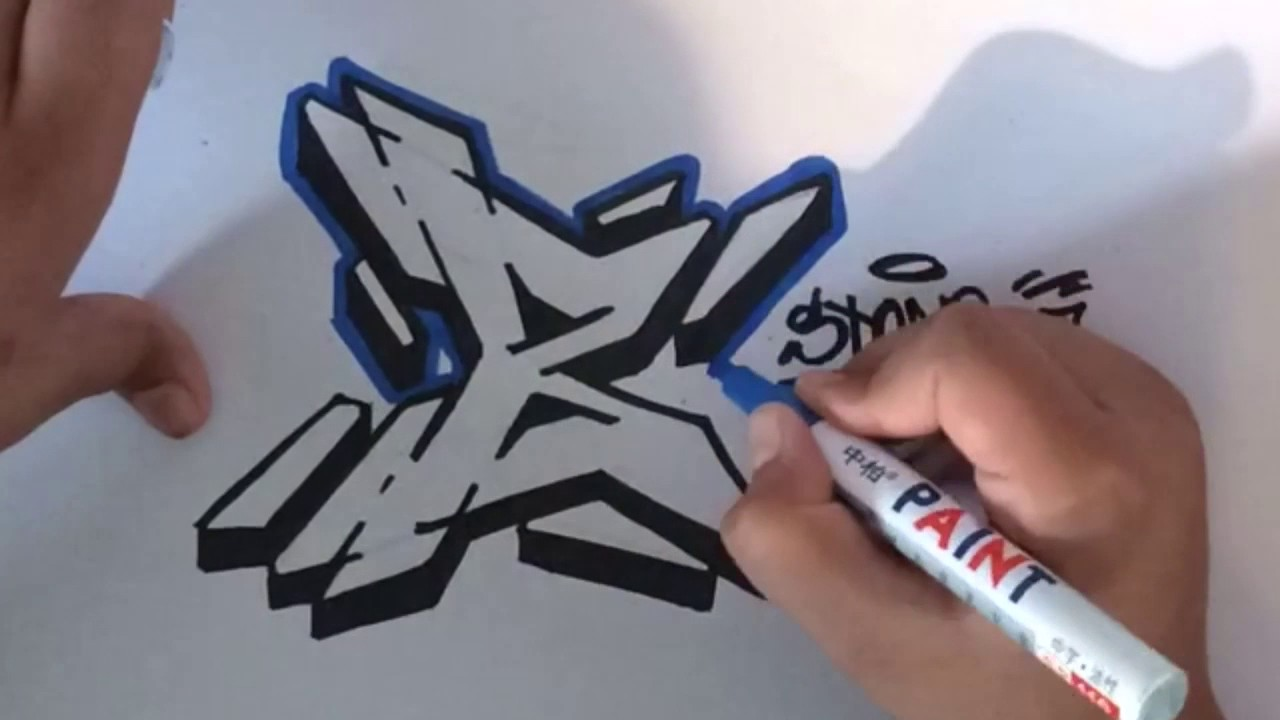 how to draw the letter b in graffiti