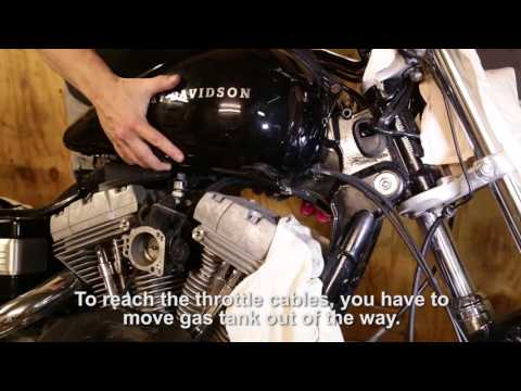 How to change throttle cables on Harley Davidson - YouTube