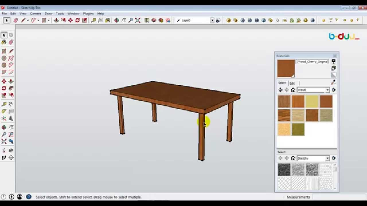 Cara Membuat Meja Sederhana Menggunakan Sketchup YouTube