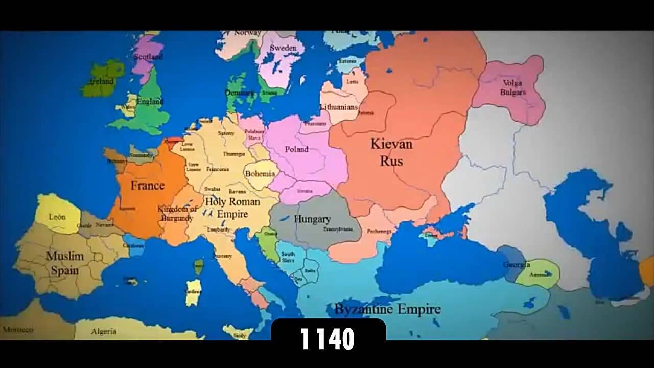 Istoricheskaya Karta Evropy 1140 2014 Youtube