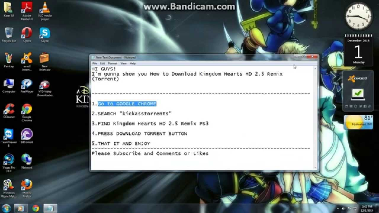 How to Download Kingdom Hearts HD 2 5 Remix for PS3 (Torrent)