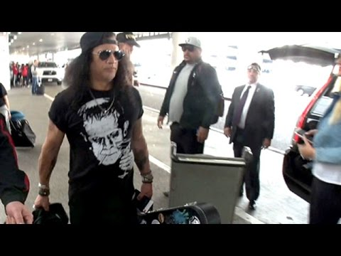 Guns N Roses Guitarist Slash Is Welcomed Back To LA