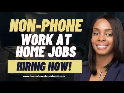 3 Non-Phone Work at Home Jobs Paying $200-$500 Weekly ( US & Global)