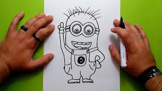 Como Dibujar Stuart De Los Minions Kawaii Paso A Paso Dibujos