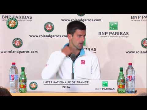 Roland Garros 2014 Friday2 Interview Djokovic