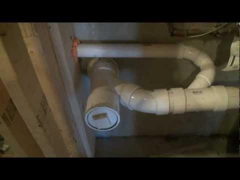 shower stall drain hookup