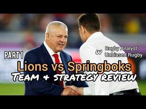 Lions & Springbok Team & Strategy Analysis | Part 1 | Lions Rugby Tour 2021
