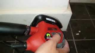 using the black decker mouse sander with 27 accessories