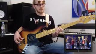 Bruno Mars - 24K Magic [SNL Performance] -  Bass cover by Adam from King Krab