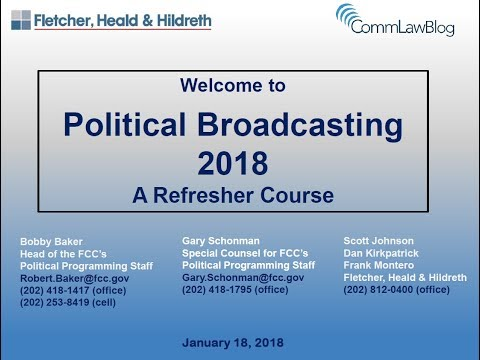 2018 Political Broadcasting Webinar