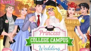 Мультик игра Принцессы Диснея: Свадьба в колледже (Princess College Campus Wedding)