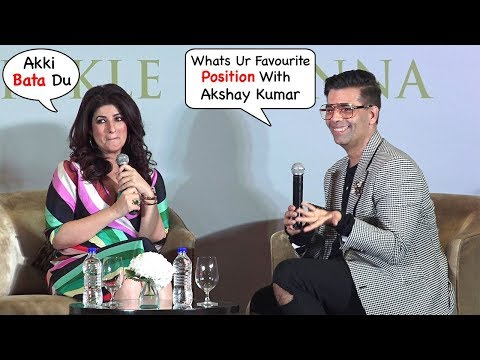 Twinkle Khanna EMBARASSES Akshay Kumar In Front Of Media At Her Book Pyjamas R Forgiving launch