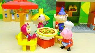 Video PEPPA PIG BEN E HOLLY MASHA E ORSO PJ MASKS - 4 amici in pizzeria a mangiare la pizza di Peppa Pig download MP3, 3GP, MP4, WEBM, AVI, FLV Maret 2018