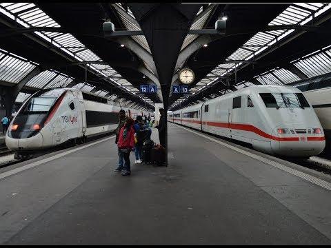 Treinen in Zürich HB - 24 april 2017
