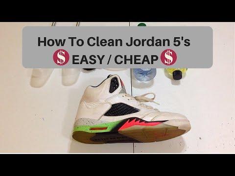 HOW TO CLEAN JORDAN 5'S (Jordan 5 Space Jam Restoration)