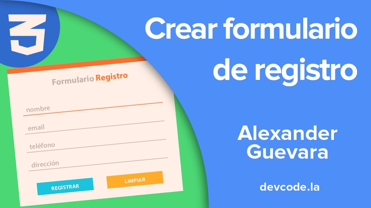 Tutorial - Formulario de registro con HTML y CSS - YouTube