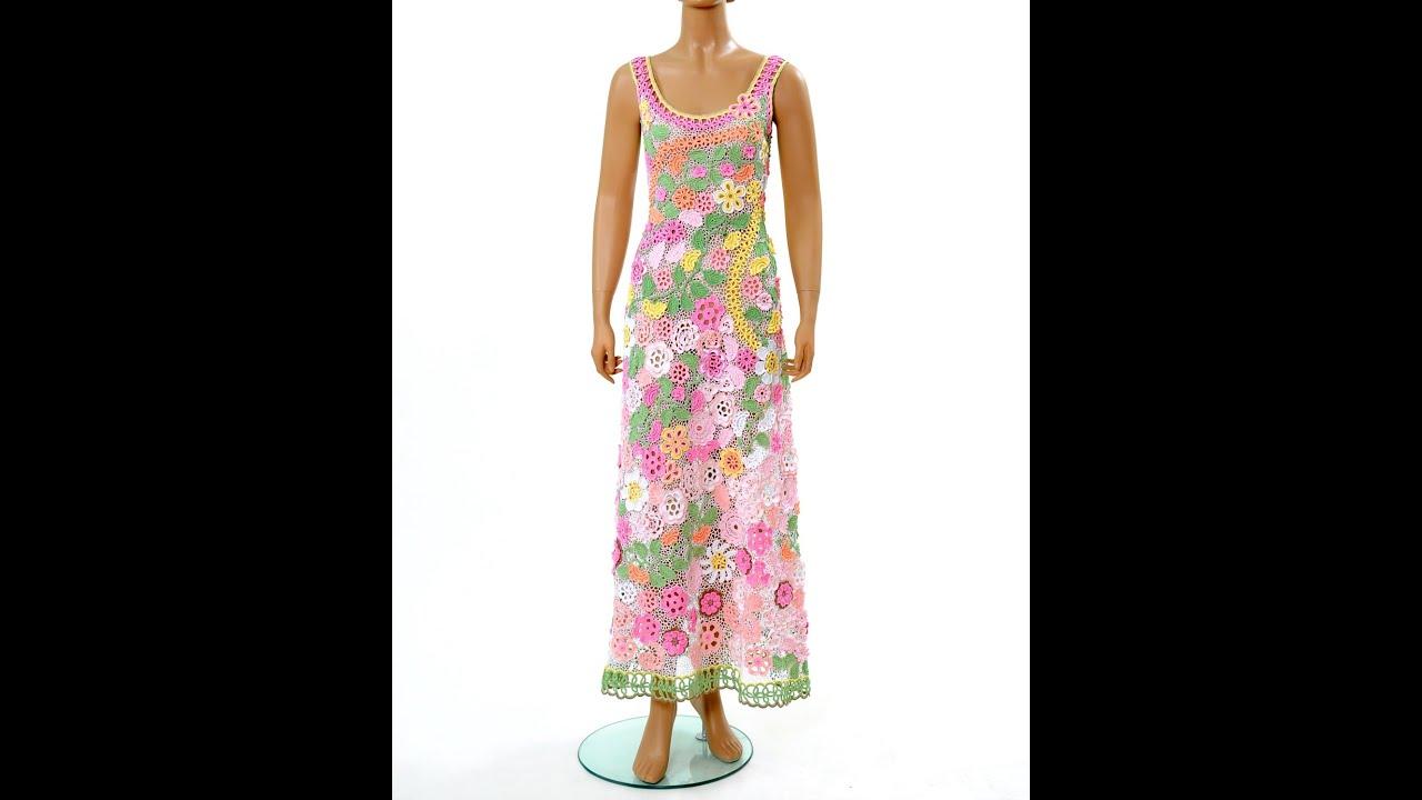Вяжем платье из ирландского кружева