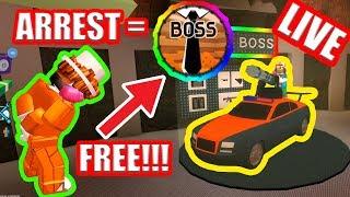 ARREST ME for FREE BOSS GAMEPASS!!! | JAILBREAK UPDATE | Roblox Jailbreak Live