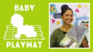 Modern Baby Playmat with Denim Backing: Easy Sewing Tutorial with Vanessa of Crafty Gemini Creates