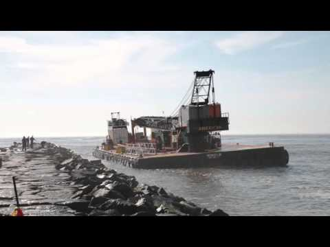 Tugboat, barge salvaged off Absecon Inlet in Brigantine