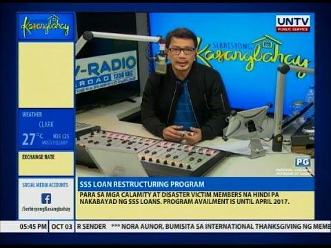 UNTV: Serbisyong Kasangbahay (October 3, 2016)