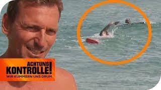 Lebensgefahr! Rettungsschwimmer sieht ertrinkenden Mann! | Achtung Kontrolle | kabel eins