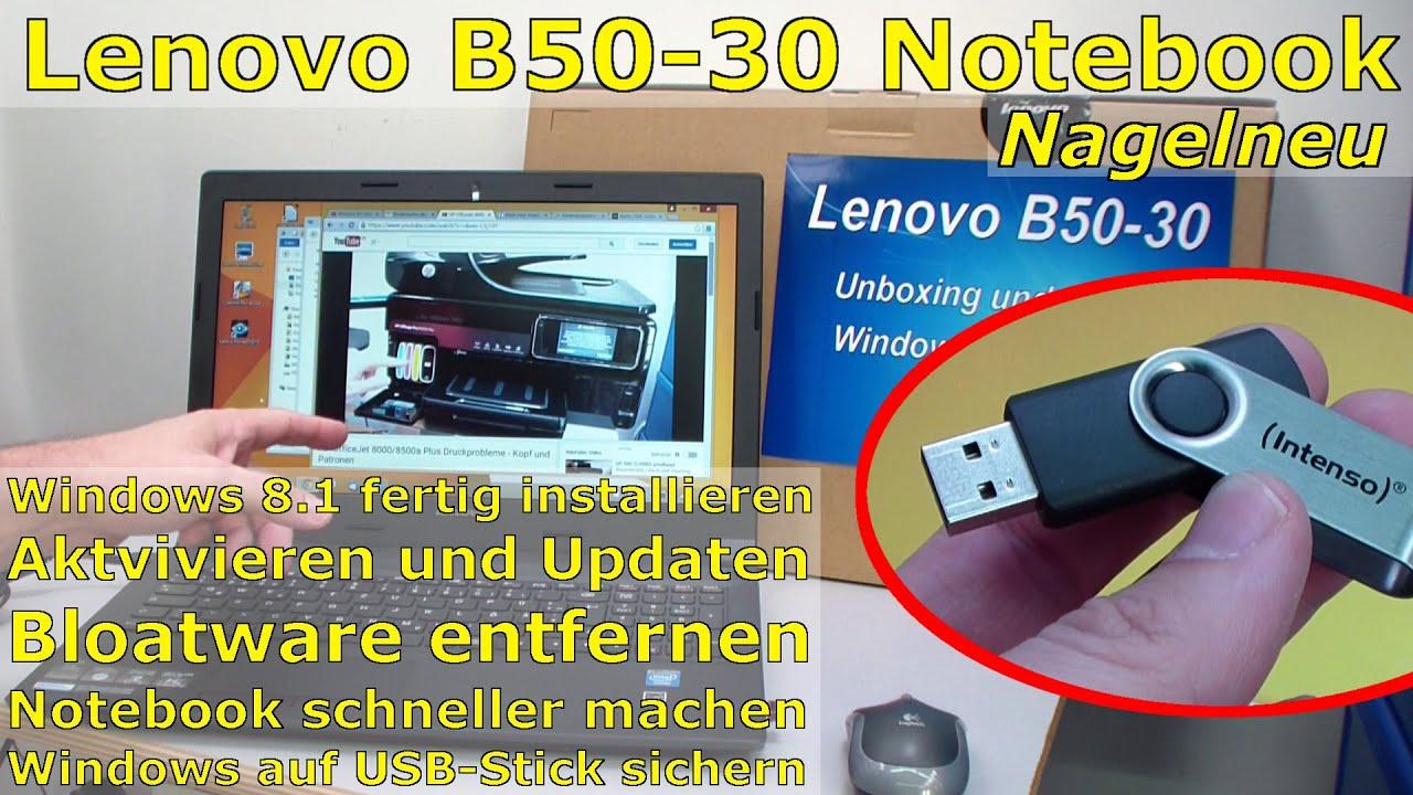 Windows 8 1 Schneller Machen lenovo b50 30 notebook nagelneu auspacken und windows 8 1 fertig