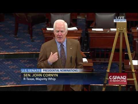 Senator Cornyn on Obamacare, Cabinet Nominations